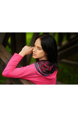 Sukienka różowa kółka