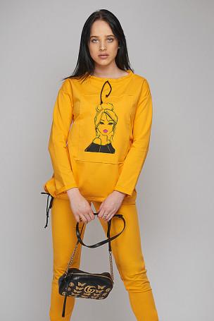Bluza laleczka - żółty