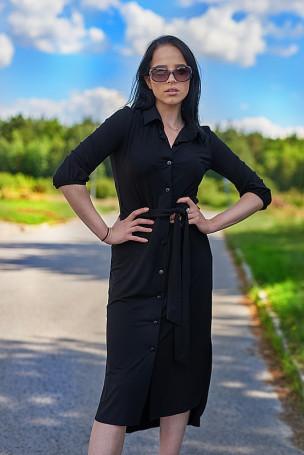 Sukienka pasek - czarna
