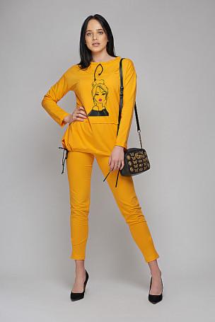 Spodnie - żółty