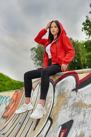 Bluza na zamek - czerwony