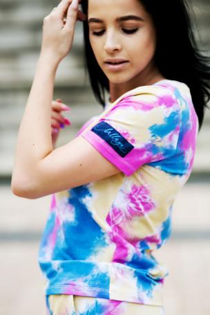 T-shirt multicolor róż