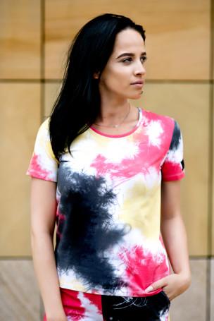 T-shirt multicolor czerwony